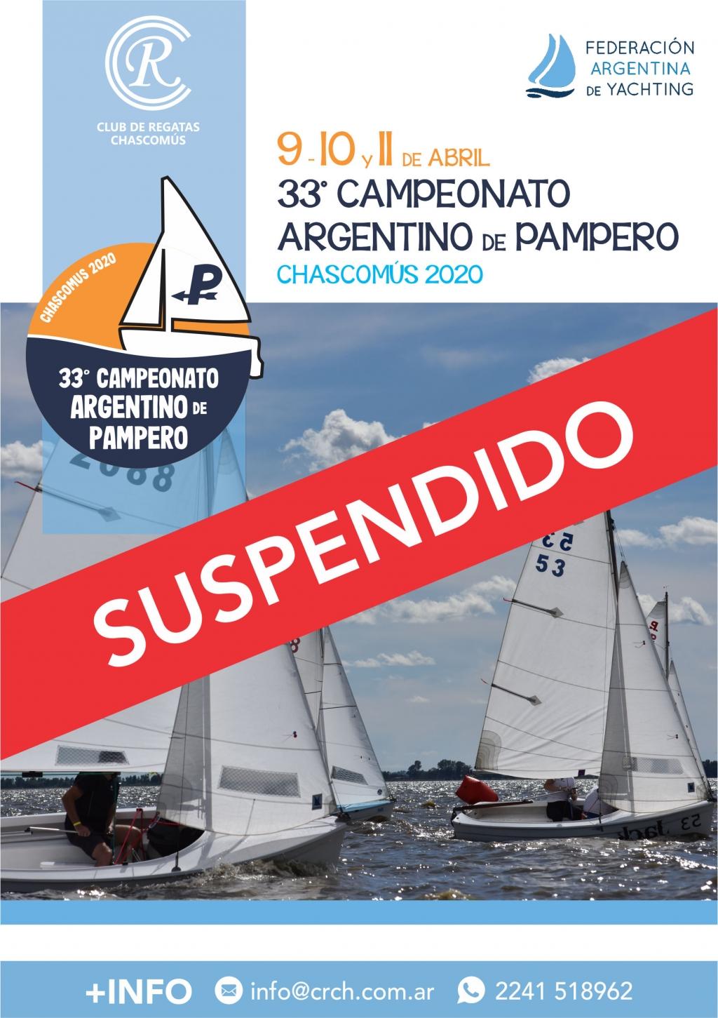 Modificatorio Campeonato Argentino de Pampero 2020